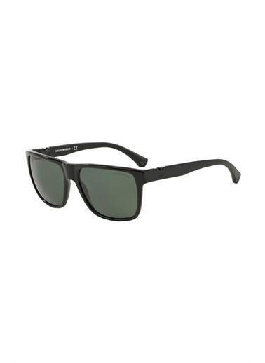 Emporio Armani 0Ea4035 Dikdörtgen Kemik Camlı Erkek Güneş Gözlüğü Siyah